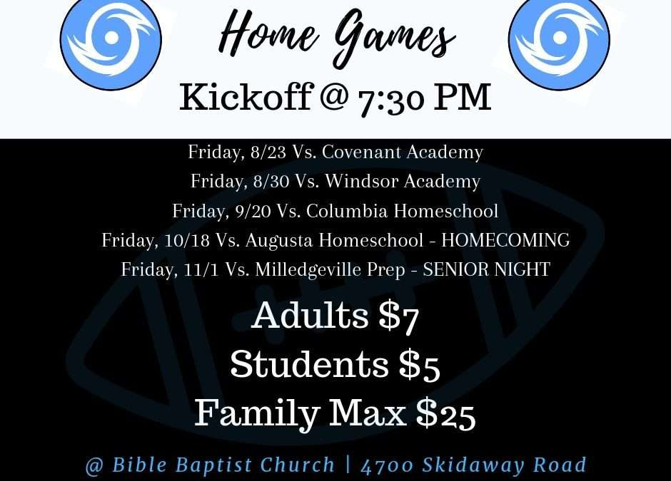 Hurricane Football Home Games