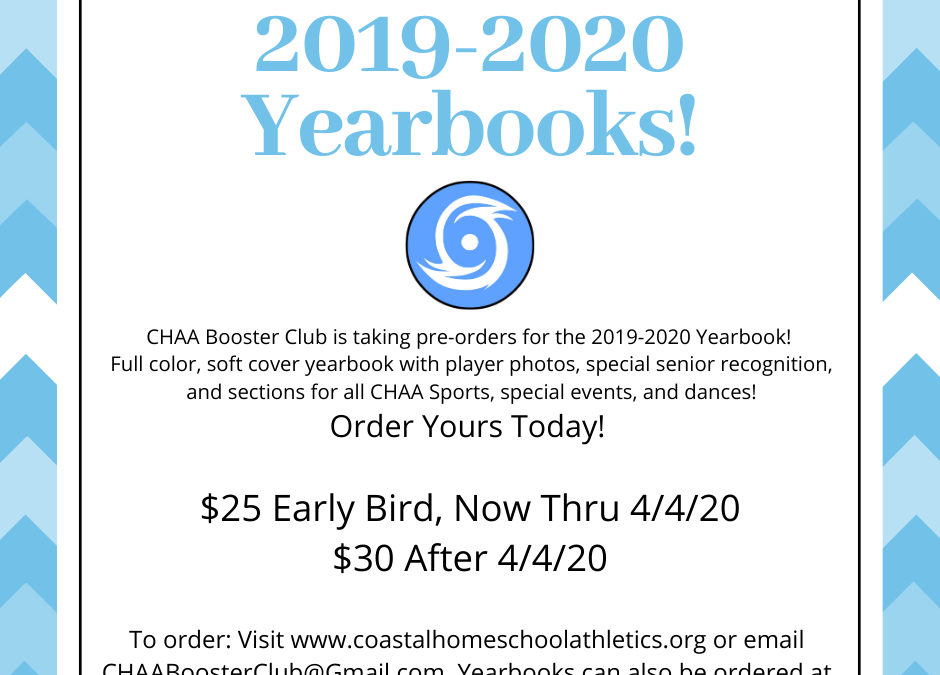 2019 – 2020 Coastal Homeschool Athletics Yearbook